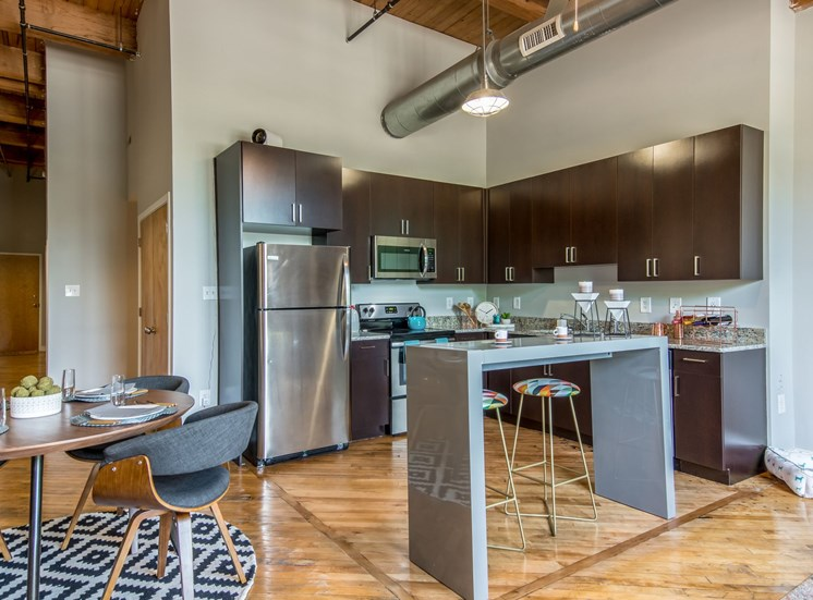 Model Kitchen at The Hudson Lofts at Richmond, Virginia, VA