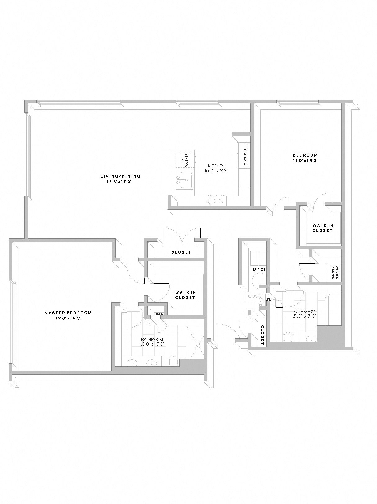 2 Bed 2 Bath B6 Floor Plan 26