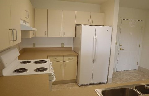 Kitchen with Range and Fridge