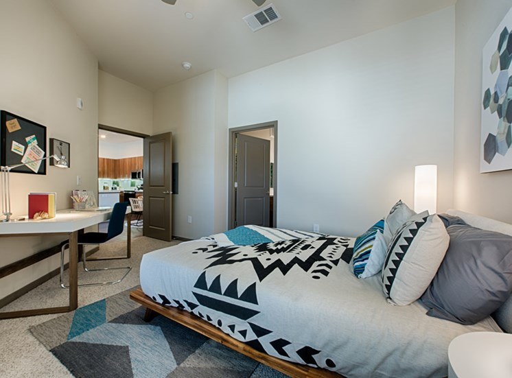 Bedroom with Study area Available at Tempo at McClintock Station, 1831 East Apache Blvd, Tempe, AZ 85281