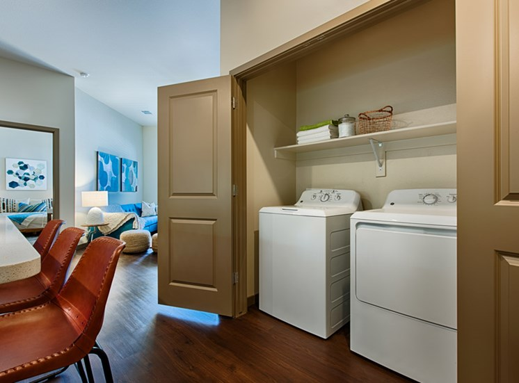 In-Unit, Full Size Washer and Dryer at Tempo at McClintock Station, 1831 East Apache Blvd, Tempe