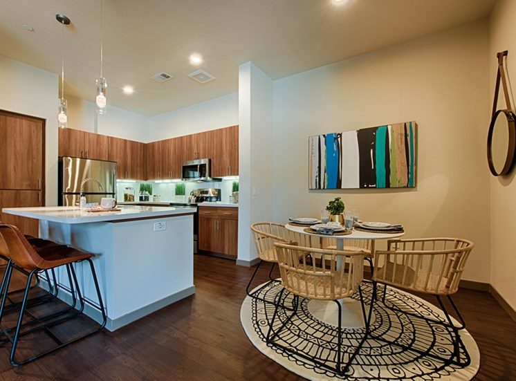 Kitchen with Separate Dining Area  at Tempo at McClintock Station, 1831 East Apache Blvd, Tempe, AZ