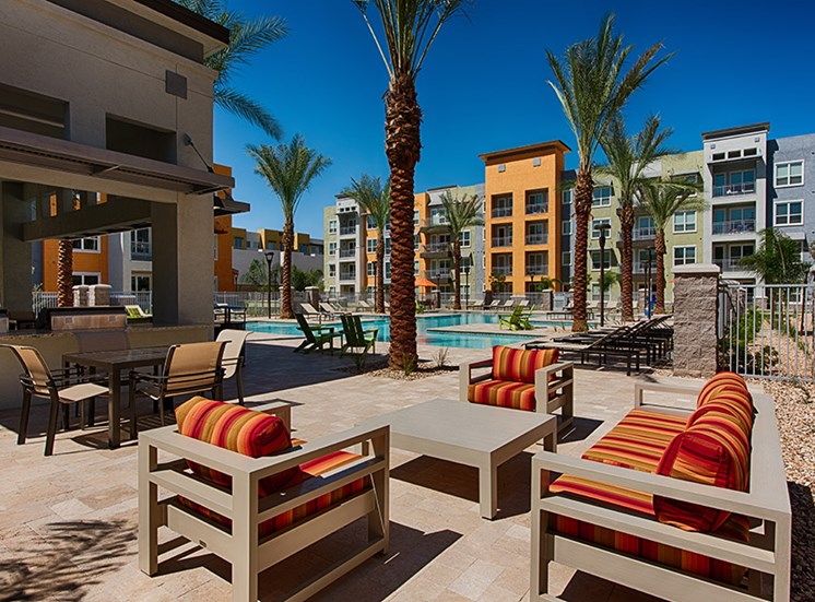 Beautiful Poolside Relaxing Area at Tempo at McClintock Station, Tempe, AZ 85281