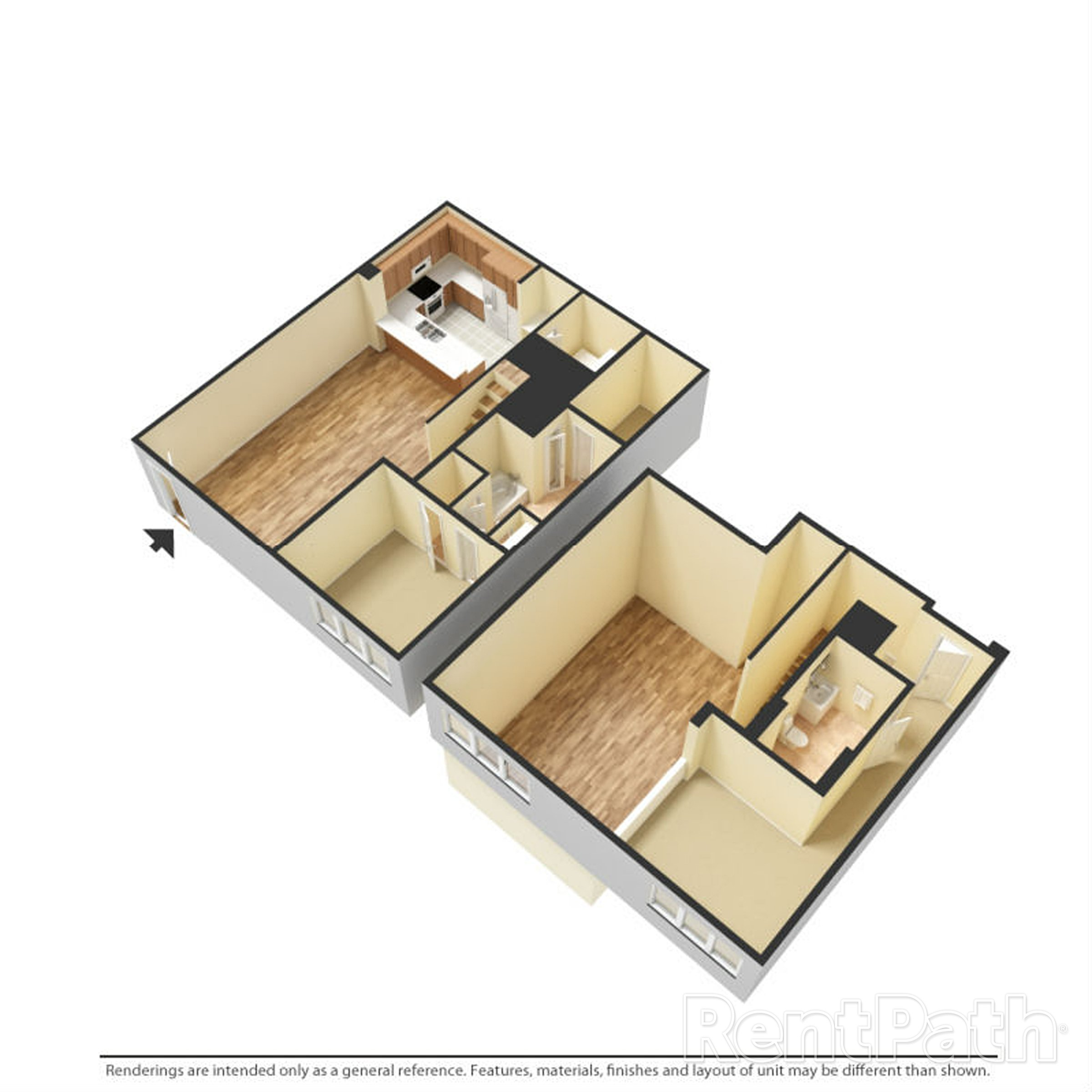 The Porter Brewers Hill Baltimore MD Floor Plan K One Bedroom One Bathroom
