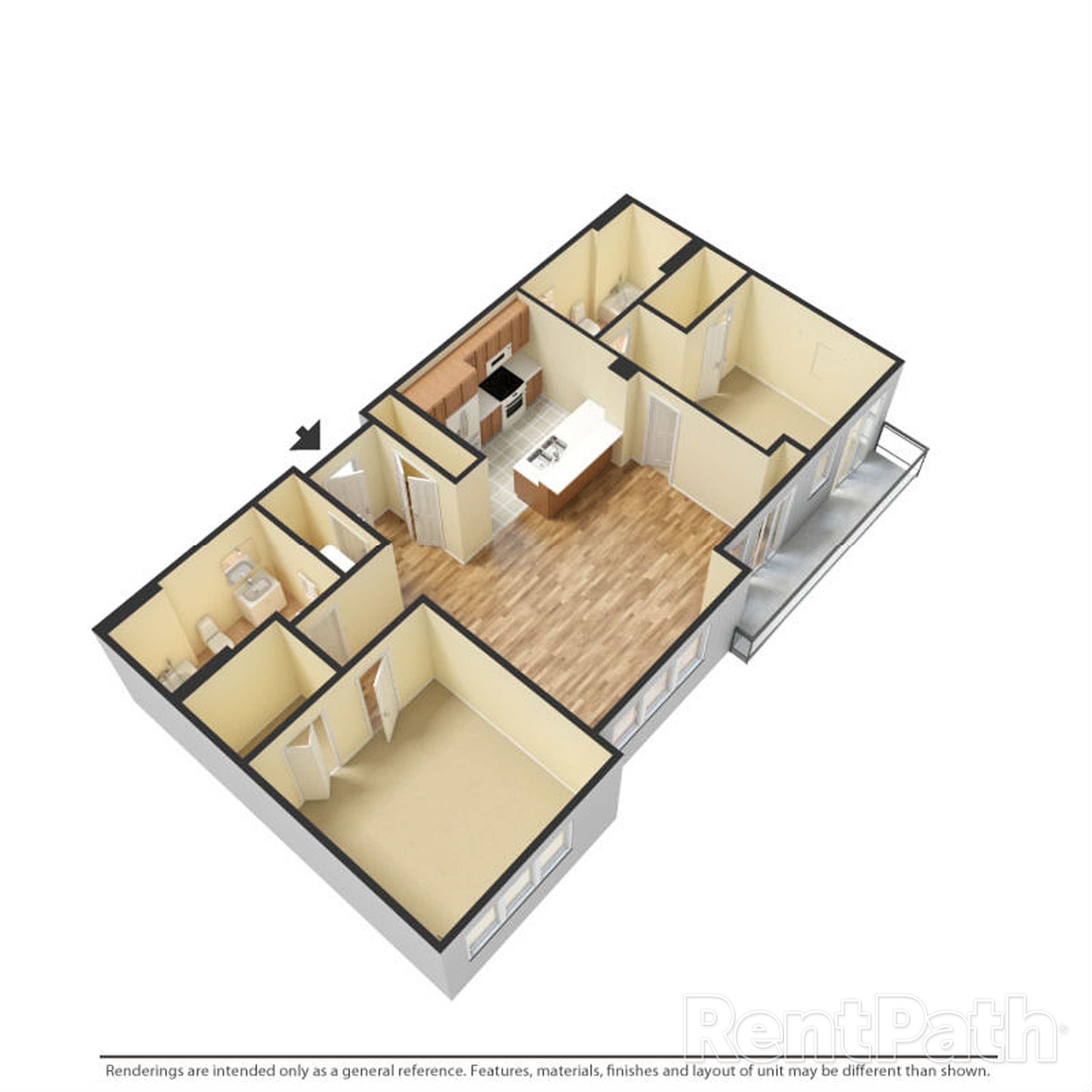 The Porter Brewers Hill Baltimore MD Floor Plan L Two Bedroom Two Bathroom
