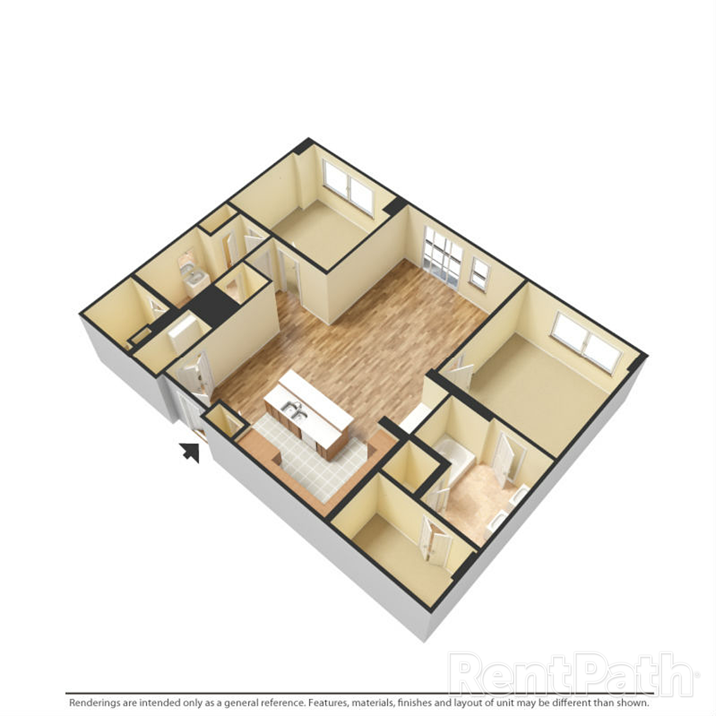 The Porter Brewers Hill Baltimore MD Floor Plan N Two Bedroom Two Bathroom