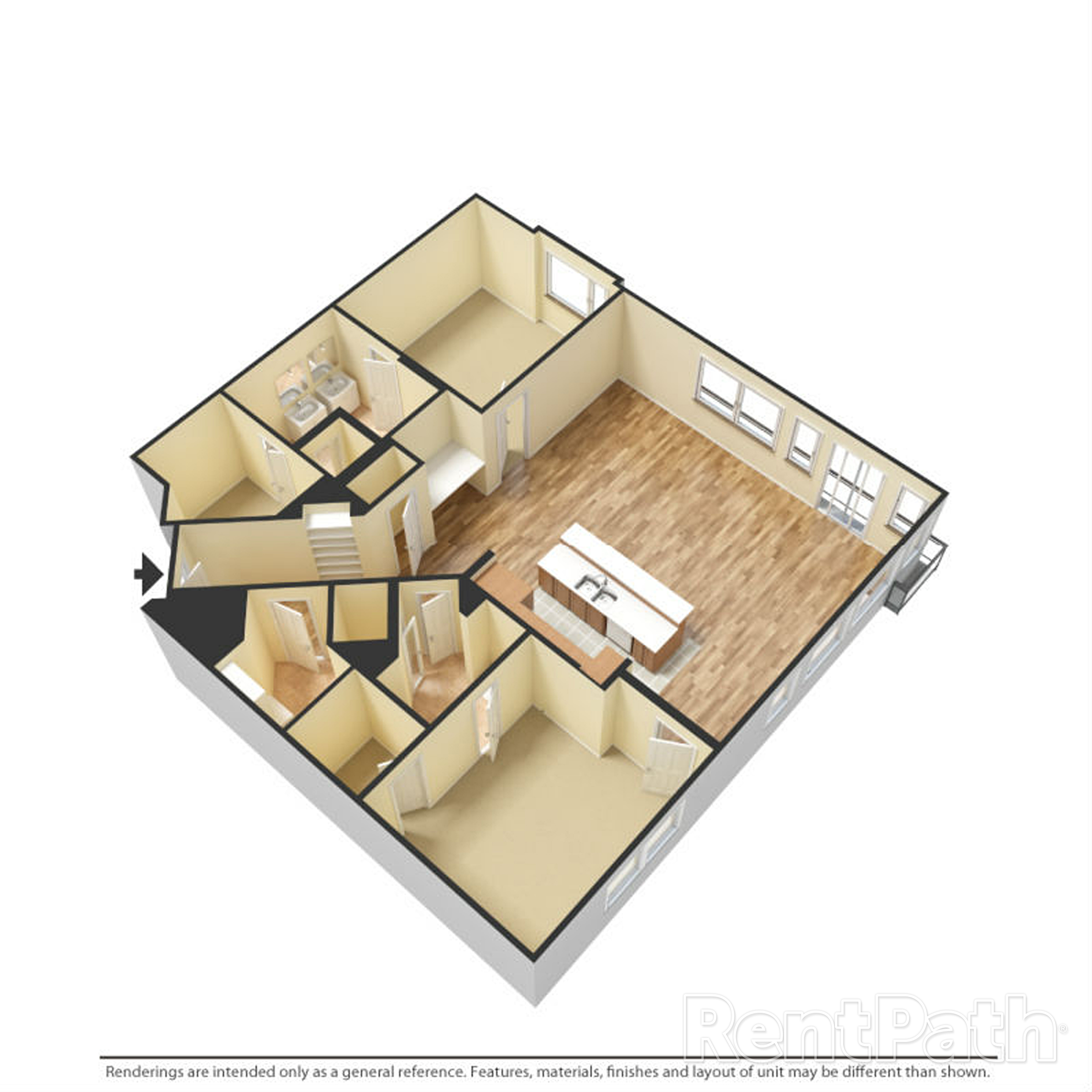 Floor Plan P Two Bedroom Two Bathroom