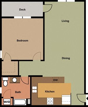 1 Bedroom/1 Bath-corner unit