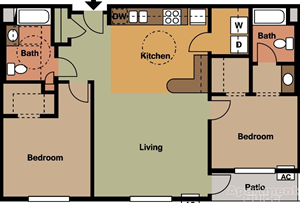 2 Bedroom/2 Bath-ADA