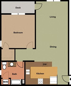1 Bedroom-Corner Unit