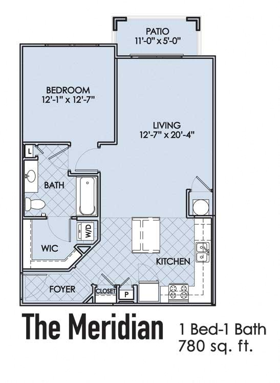 The Meridian Floor Plan 1