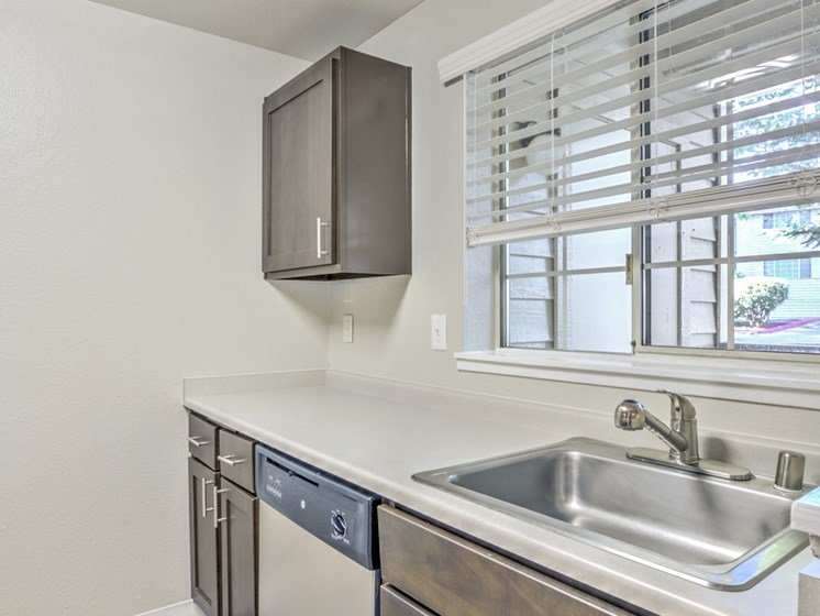 The Windsor Apartments Model Kitchen and Sink