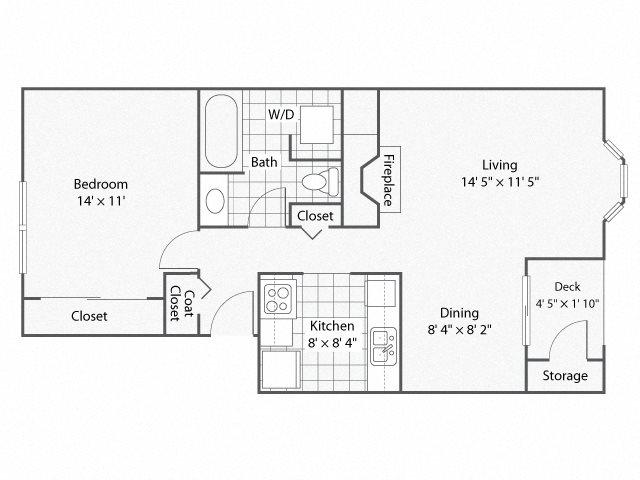 1 Bedroom_1 Bathroom_Cambridge | Windsor Apartments For Rent in Renton, WA 98059