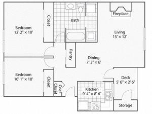 2 Bedroom_1 Bathroom_Winchester | Windsor Apartments For Rent in Renton, WA 98059