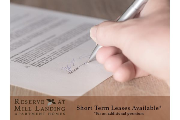 Reserve at Mill Landing Apartments short term lease