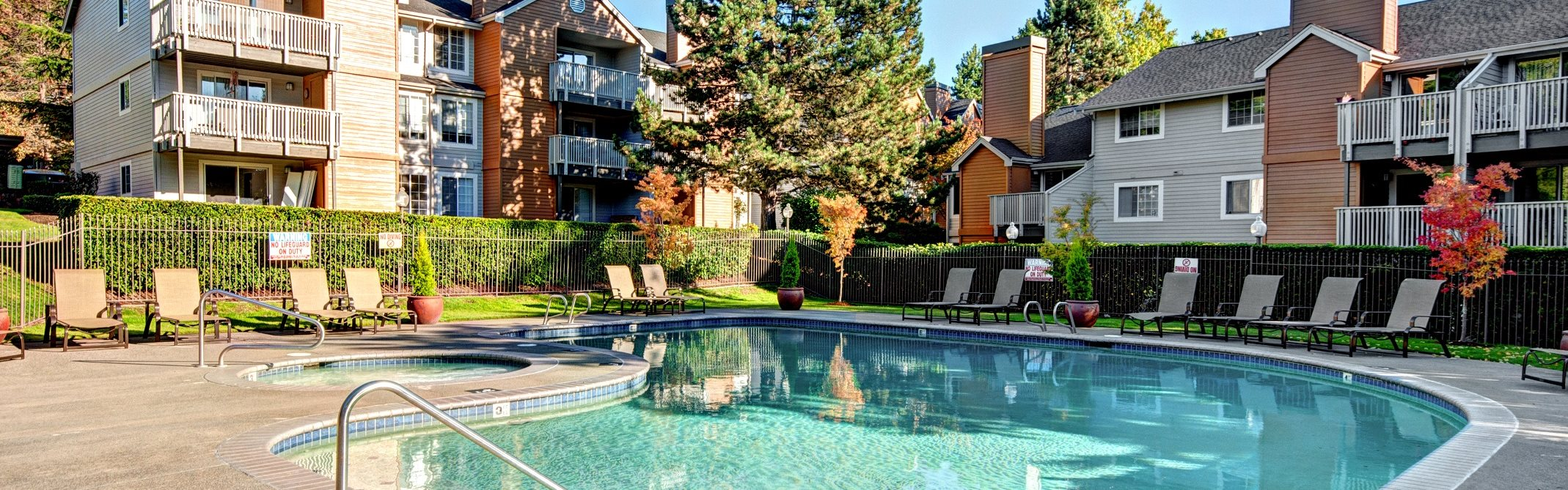 Ridgegate Apartments_Kent WA_Community Pool and Spa Area