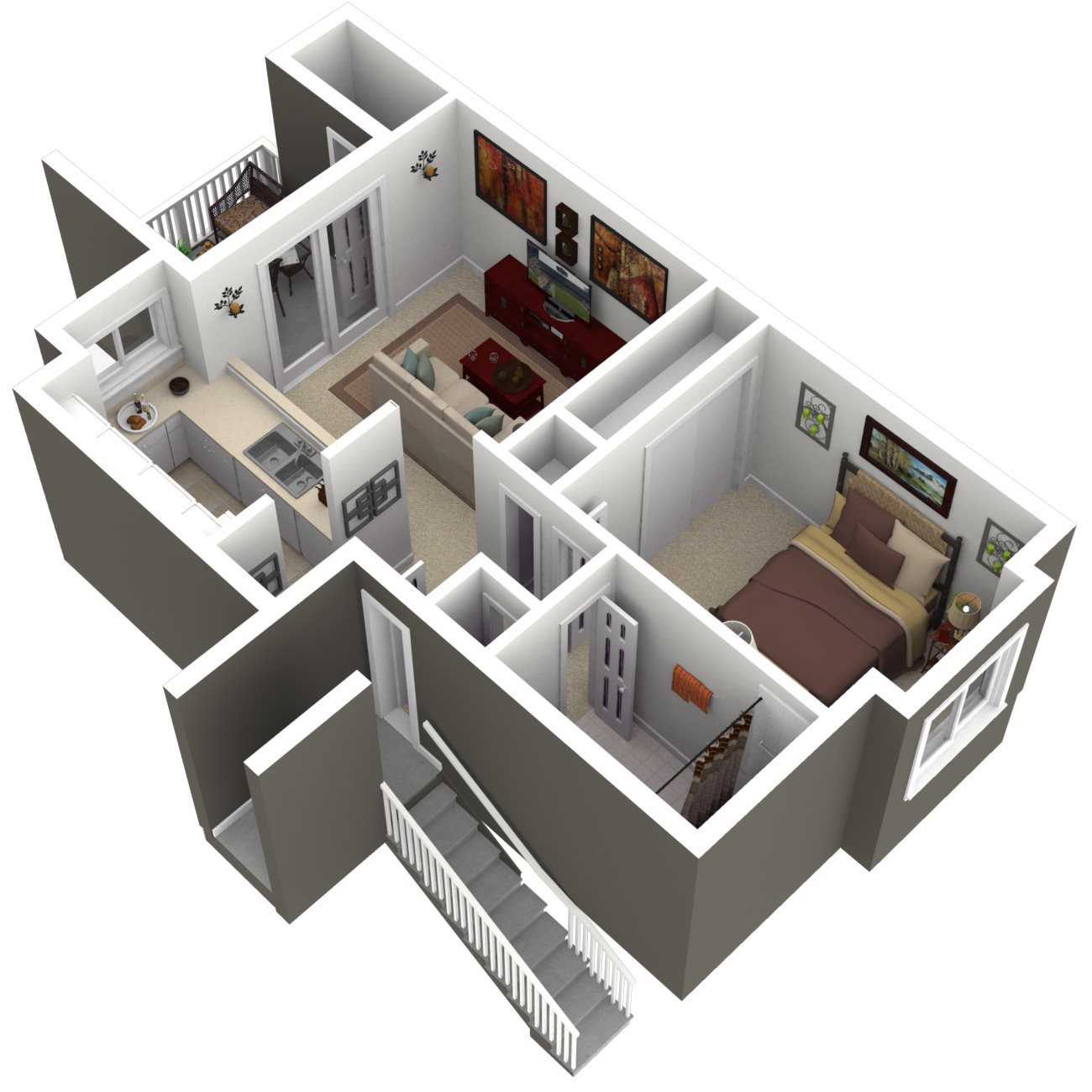 Ridgegate Apartments_Kent WA_Floor Plan_The Elm_One Bedroom One Bathroom