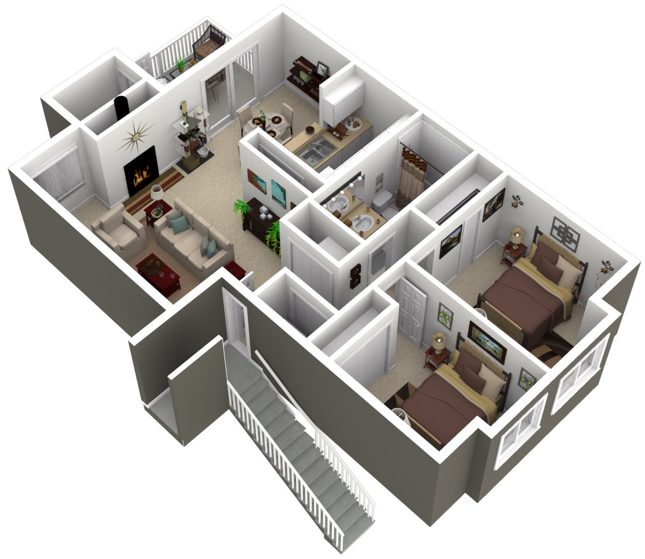 Ridgegate Apartments_Kent WA_Floor Plan_The Maple_One Bedroom One Bathroom