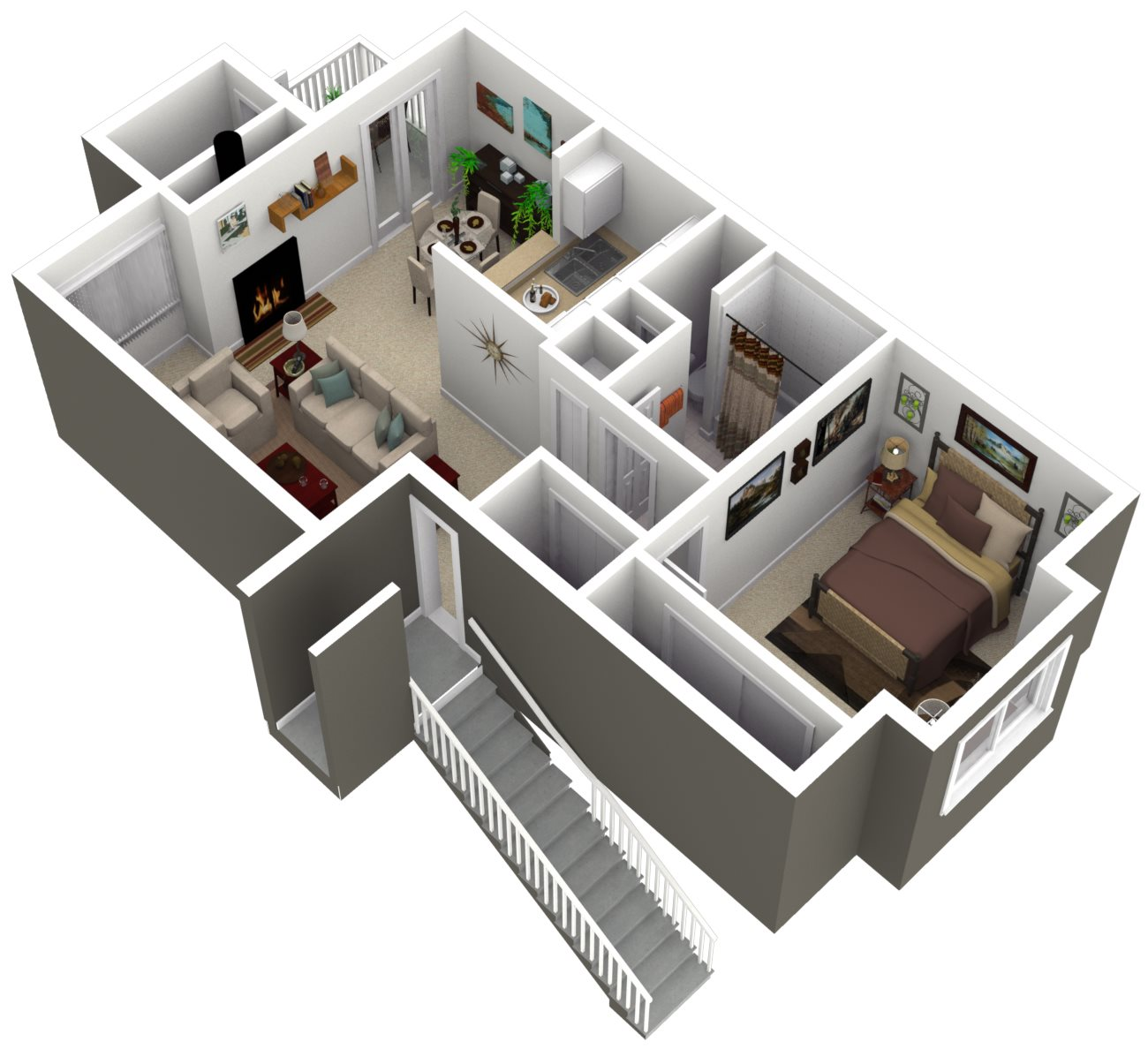 Ridgegate Apartments_Kent WA_Floor Plan_The Pine_One Bedroom One Bathroom