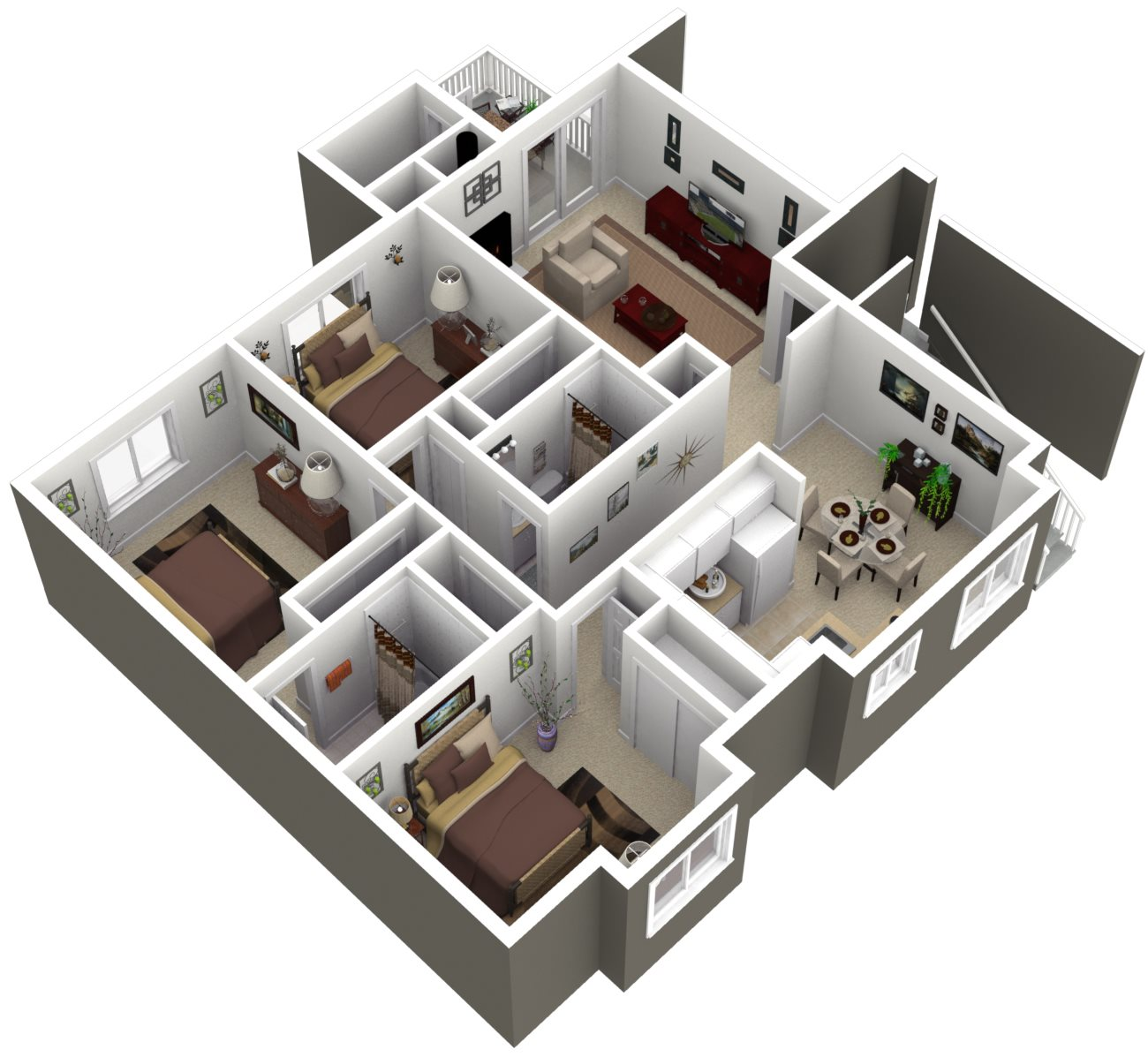 Ridgegate Apartments_Kent WA_Floor Plan_TheCedar_Two Bedroom Two Bathroom