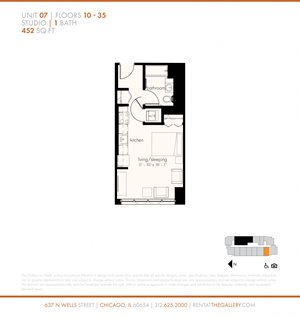 Studio (452 sf)