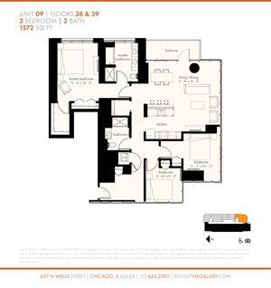 Three Bedroom (1572 sf)