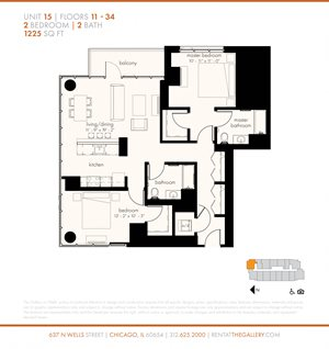 Two Bedroom (1225 sf)