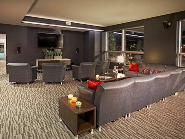 Media-Theater Room with Plenty Of Room For Seating and Entertaining at Aspira Apartments