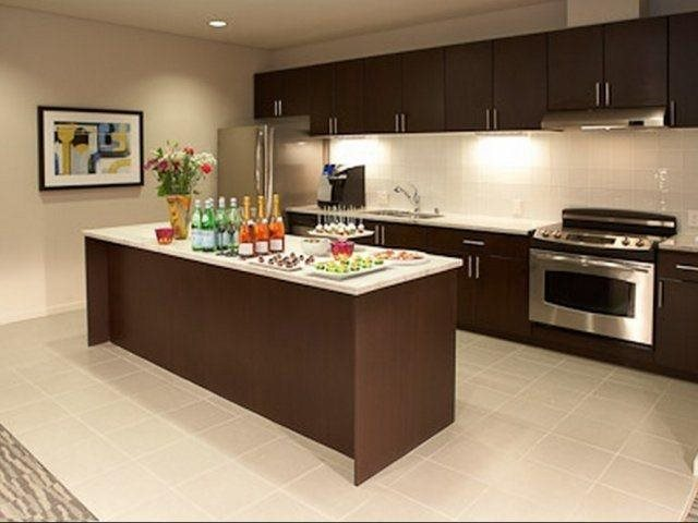 Kitchen Islands With Granite Countertops at Aspira Apartments, WA