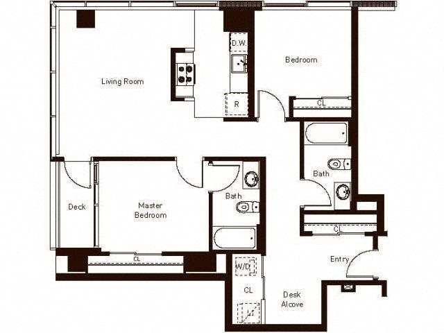 2 bedroom 2 bath - 1142 Floorplan at Aspira Apartments