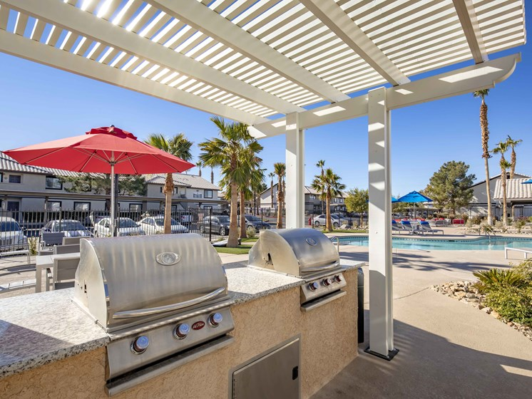 swimming pool grill area
