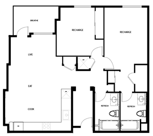 2E - TWO BED, TWO BATH