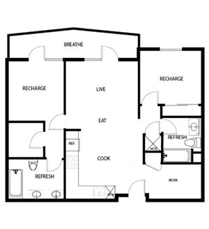 2C - TWO BED, TWO BATH + DEN