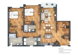 Metro Floorplan at West Side Lofts, Red Bank NJ 07701
