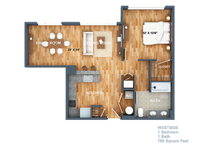 Westside Floorplan at West Side Lofts, Red Bank NJ 07701