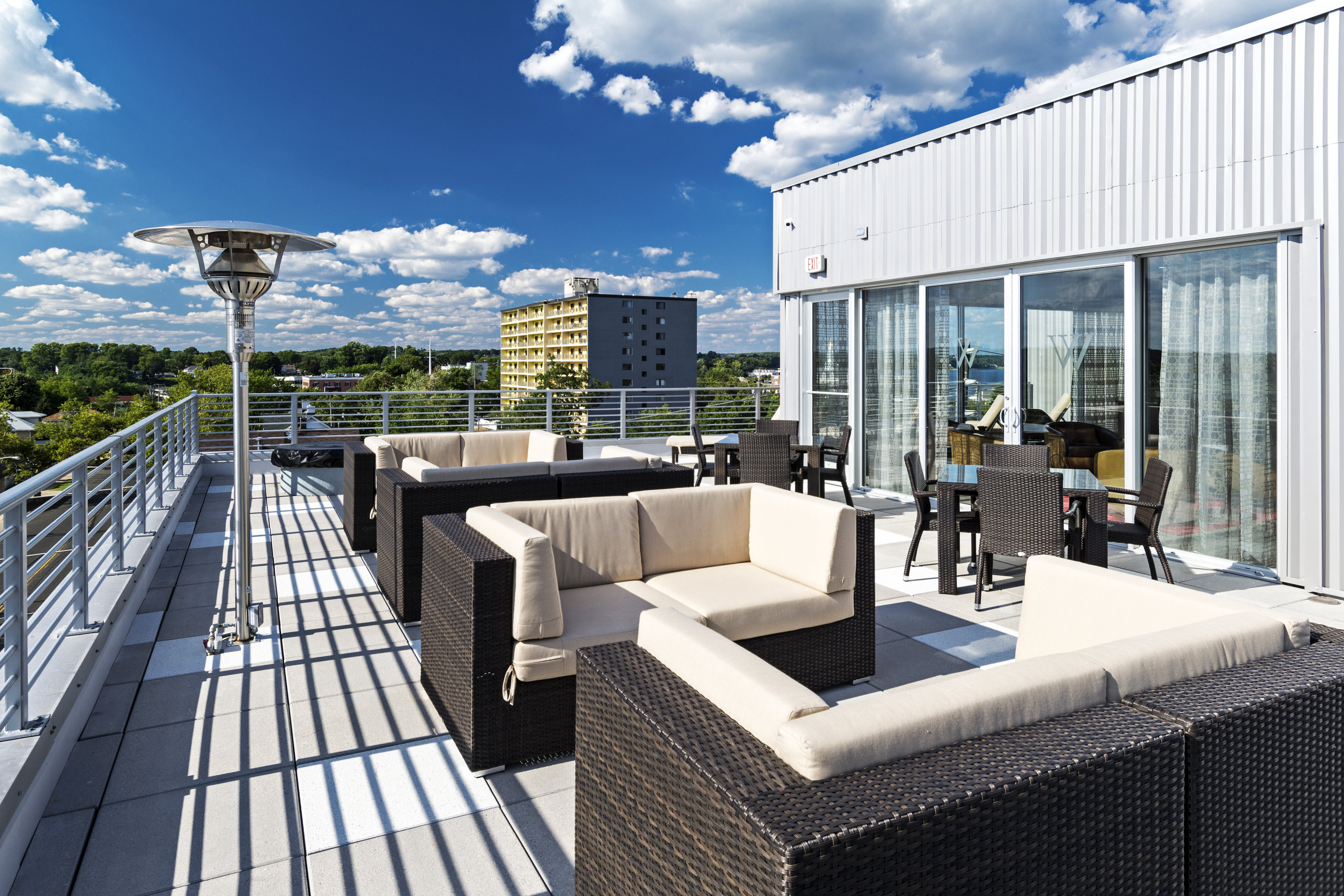 Rooftop Lounge at West Side Lofts, Red Bank NJ 07701