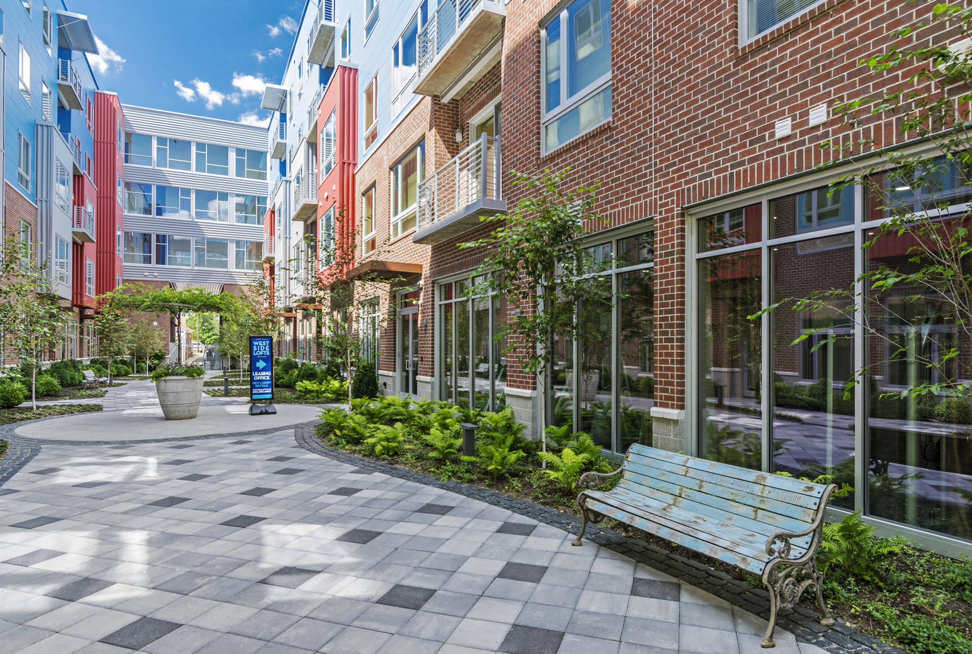 Private Courtyard at West Side Lofts, Red Bank NJ 07701