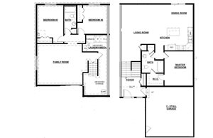 Bi-Level Twin Home-Option B