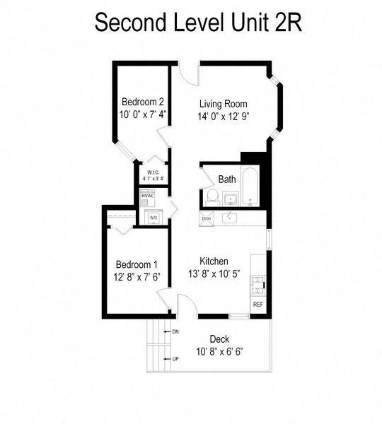 2 Bedroom - 1 Bathroom