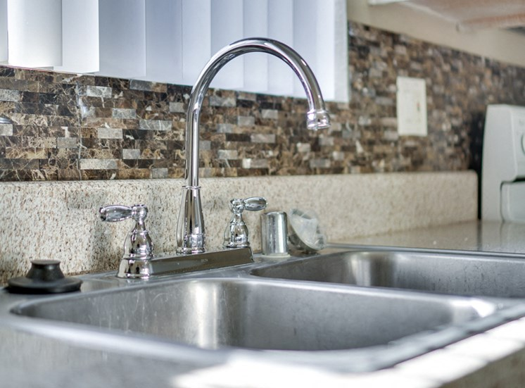 Double Stainless Steel Sink at Highlander Park Apts, California, 92507