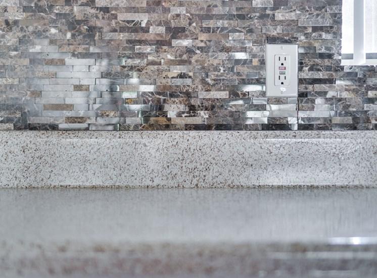 Granite Counter Tops In Kitchen at Highlander Park Apts, Riverside, CA, 92507