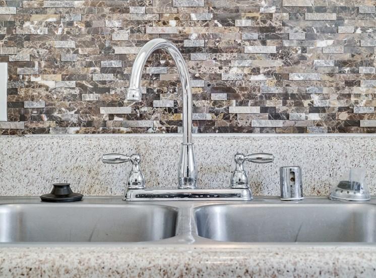Sink With Faucet at Highlander Park Apts, Riverside, California