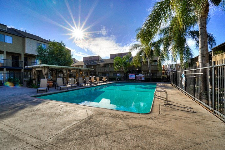 Lounging By The Pool at Highlander Park Apts, Riverside, 92507