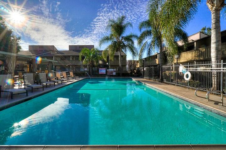 Invigorating Swimming Pool at Highlander Park Apts, Riverside, California