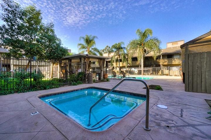Year-Round Hot Tub And Spa at Highlander Park Apts, California