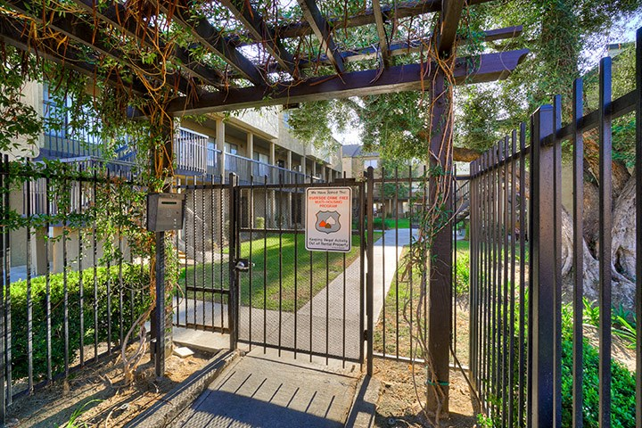 Gated Entrance at Highlander Park Apts, California, 92507