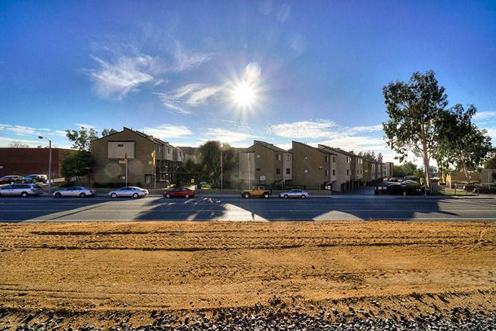 Roadside View Of The Property at Highlander Park Apts, Riverside, CA, 92507