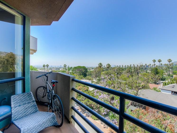 Spectacular View Form The Balcony at Hollywood Vista, California