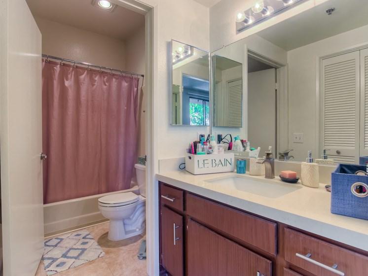 Upgraded Bathroom Fixtures at Hollywood Vista, Hollywood, 90046