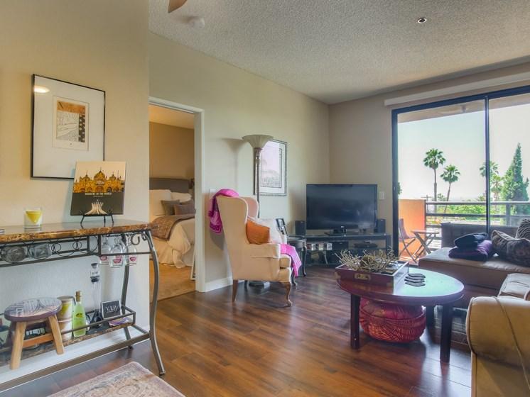 Television In Living Room at Hollywood Vista, Hollywood